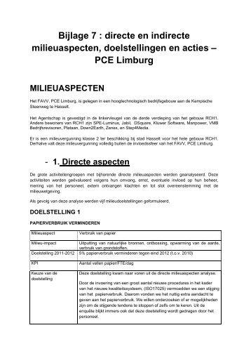 PCE Limburg - Favv