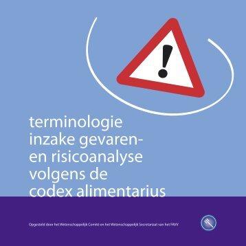 en risicoanalyse volgens de codex alimentarius - Favv