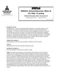 NEK622, Nationalekonomi, Mikro B (21-40p), 10 poäng