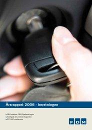 Årsrapport 2006 - beretningen - FDM