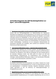 10-Punkte-Programm der FDP-Bundestagsfraktion zur Agrar- und ...