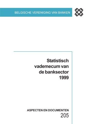 Statistisch vademecum van de banksector 1999 - Febelfin