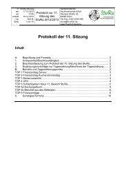 11. Sitzung - Fachhochschule Erfurt