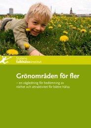 Grönområden för fler - Statens folkhälsoinstitut