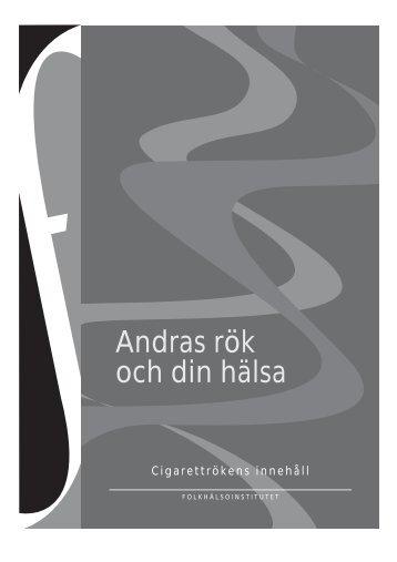 Andras rök och din hälsa - Cigarettrökens innehåll