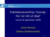 FHI:s arbete med äldres hälsa - Statens folkhälsoinstitut
