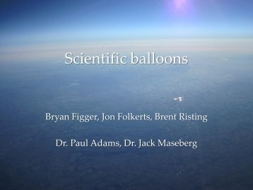 Scientific balloons