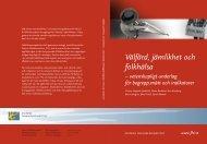 Välfärd, jämlikhet och folkhälsa, 4.2 MB - Statens folkhälsoinstitut