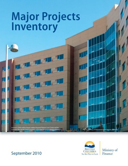 Major Projects Inventory - Ministry of Finance - Government
