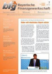 Zeitung zum Download - bei der Bayerischen Finanzgewerkschaft