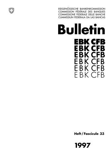 Bulletin - Finma