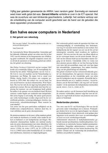 Een halve eeuw computers in Nederland - Freudenthal Instituut