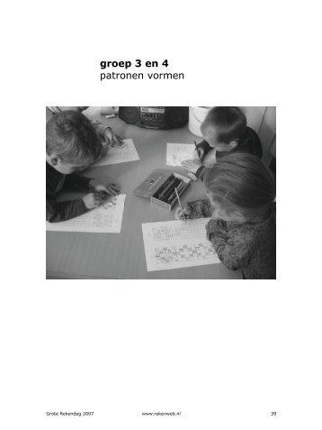 groep 3 en 4 patronen vormen