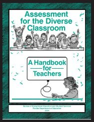 Assessment for the Diverse Classroom - Florida Department of ...