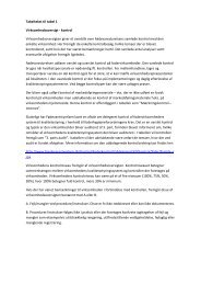 Tabel 1 Virksomhedsoversigt - Fødevarestyrelsen