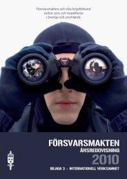 Bilaga 3 ÅR 2010 - Försvarsmakten