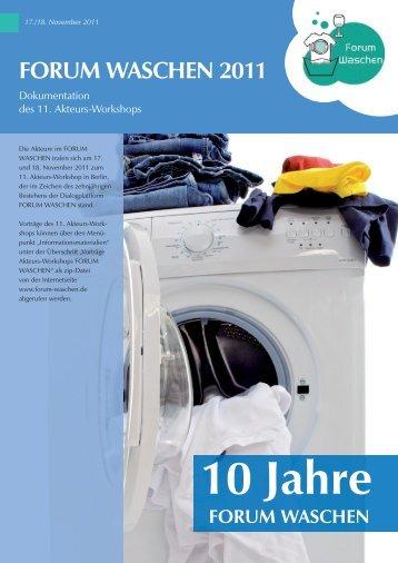 IKW Projektzeitung Waschen 2011 - Forum Waschen