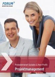 Projektmanagement - FORUM Berufsbildung