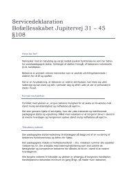Servicedeklaration Bofællesskabet Jupitervej 31 – 45 §108