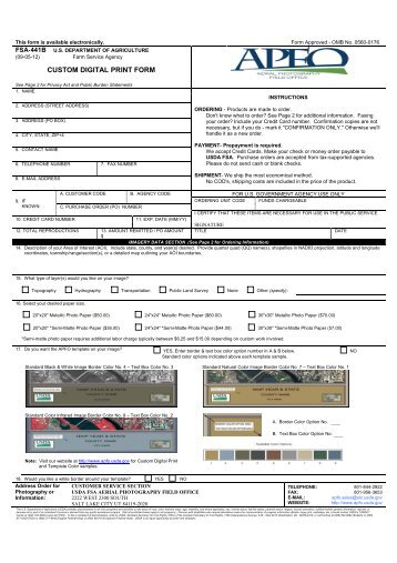 CUSTOM DIGITAL PRINT FORM - USDA Farm Service Agency - US ...