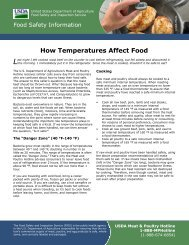 How Temperatures Affect Food - Food Safety and Inspection Service ...