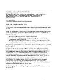 Notat vedr. bestyrelsen forar 2007. - Gaderummet