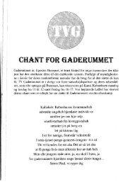 Chanten tekst - Gaderummet