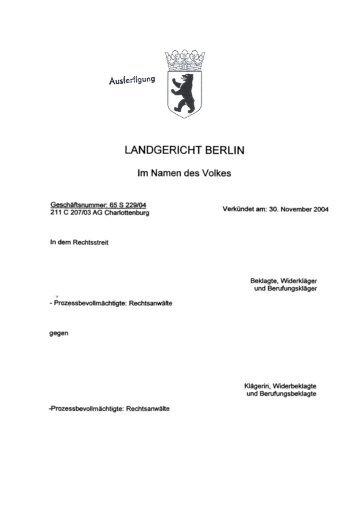 LANDGERICHT BERLIN - Astra