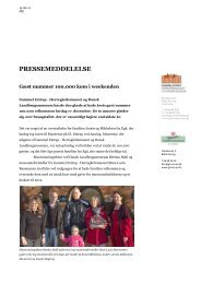 Pm - gæst nummer 100.000 - Gammel Estrup