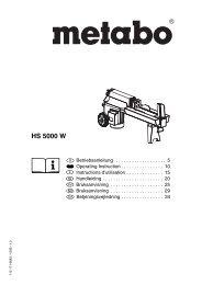 HS 5000 W - BA - DE; EN; FR; NL; SV; NO; DA - Castorama