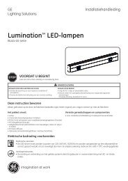 LuminationTM LED-lampen - GE Lighting