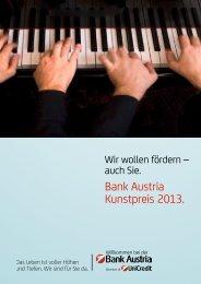 Bank Austria Kunstpreis 2013. - Österreichischer Gemeindebund