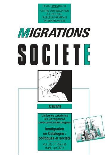 Immigration en Catalogne - Generalitat de Catalunya