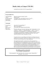 Raalte, index ref. dopen 1745-1811 - Geneaknowhow.net