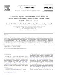 An extended organic carbon-isotope record across the Triassic ...