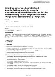 Vergoldermeisterverordnung - VergMstrV - Gesetze im Internet