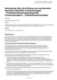 Geprüfter Prozessmanager – Produktionstechnologie - Gesetze im ...