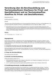 Kaufmann für Privat- und Geschäftsreisen - Gesetze im Internet