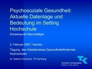 Psychosoziale Gesundheit - Arbeitskreis Gesundheitsfördernde ...