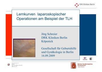 Lernkurven laparoskopischer Operationen am Beispiel der TLH