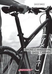 ORIGINELE HANDLEIDING GHOST E-HYBRIDE - Ghost Bikes
