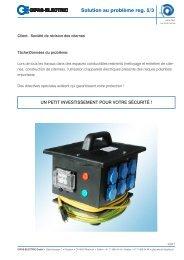 Solution au problème reg. 5/3 - GIFAS Electric GmbH