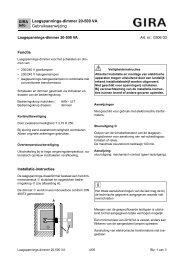 Laagspannings-dimmer 20-500 VA Gebruiksaanwijzing ① ② - Gira