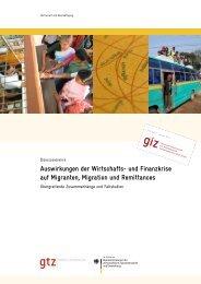 Auswirkungen der Wirtschafts- und Finanzkrise auf Migranten ... - GIZ