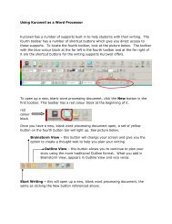 Using Kurzweil as a Word Processor Kurzweil has a number of ...