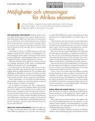 Möjligheter och utmaningar för Afrikas ekonomi - Globalarkivet