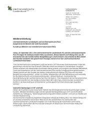 Medienmitteilung - Liechtensteinische Post AG