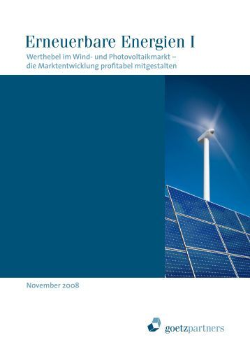 Erneuerbare Energien I - goetzpartners.com