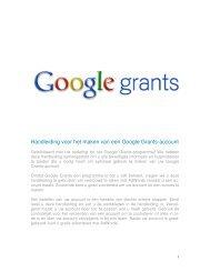 Handleiding voor het maken van een Google Grants-account
