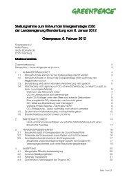 GP-Stellungnahme zum Entwurf der Energiestrategie ... - Greenpeace